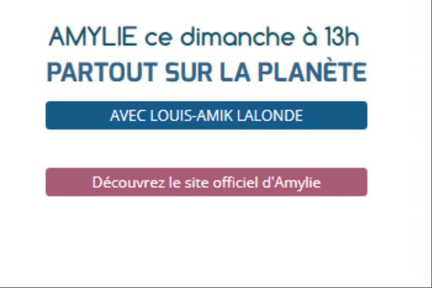 """Amylie reçue par Louis-Amik dans """"Partout sur la Planète"""""""