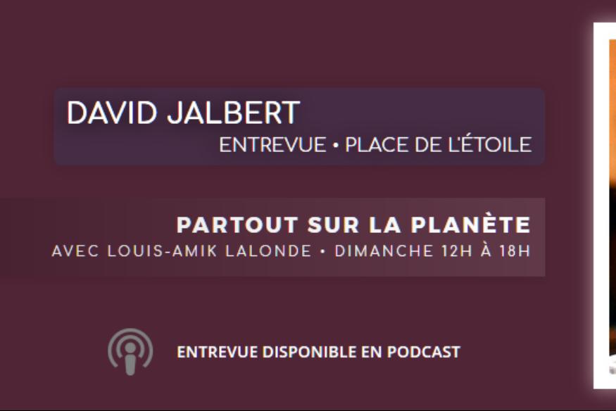 David Jalbert en entrevue avec Louis-Amik